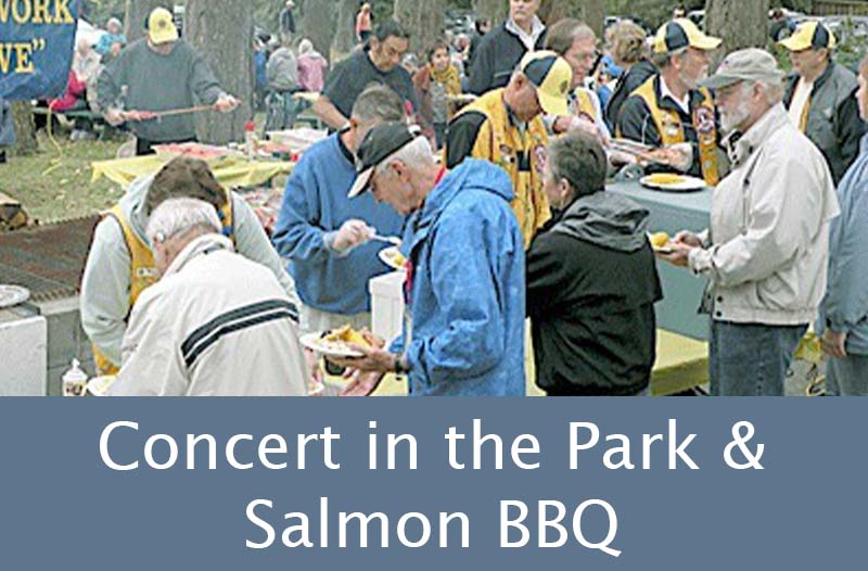 Concert in the Park & Salmon Barbecue