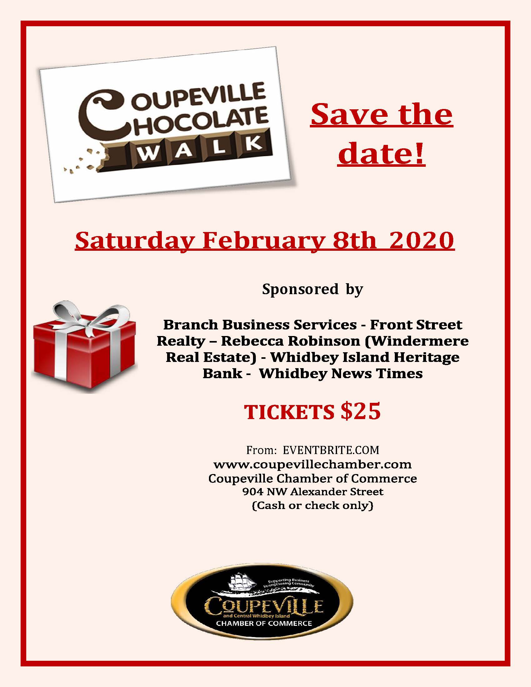 Chocolate Walk Save The Date POSTER 2020