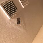 Leak in the roof caused bubble in the ceiling