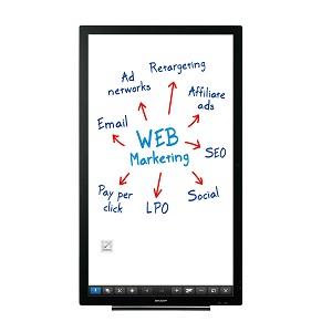 Sharp Aquos Board PN-L401C interactive touch screen display