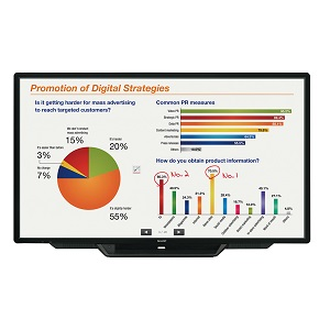 Sharp Aquos Board PN-L803CA interactive touch screen display