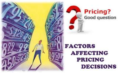Factors affecting pricing decisions