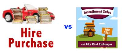 Hire Purchase vs Installment Sale