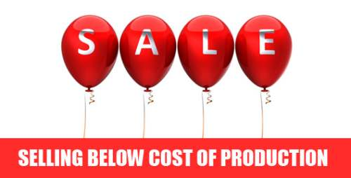 Sale below cost of production