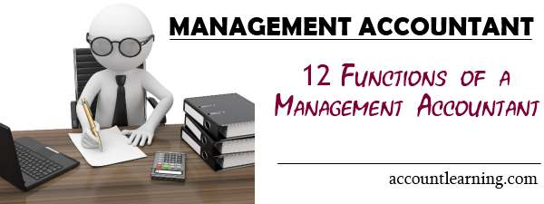 Management Accountant - 12 Functions of a management accountant
