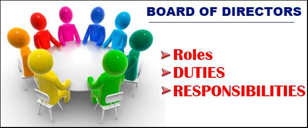Roles, Duties & Responsibilities of Board of Directors