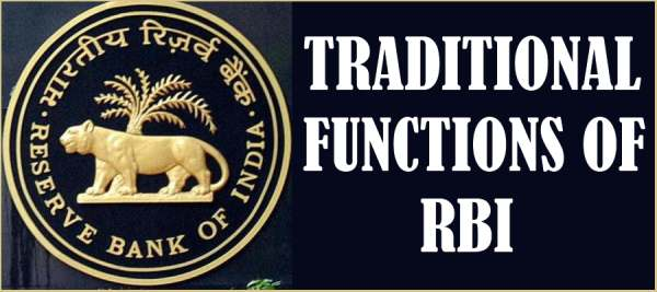 Traditional Functions of RBI