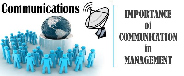 Importance of communication in management