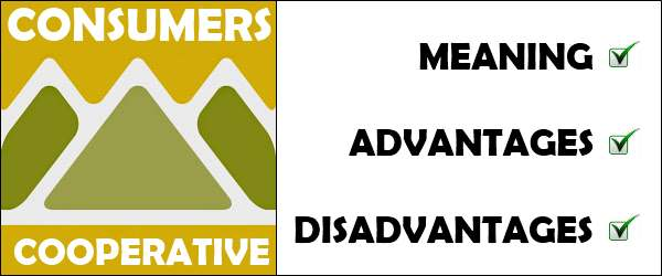 Consumers cooperative - Meaning, Advantages, Disadvantages