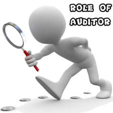 Role of auditor