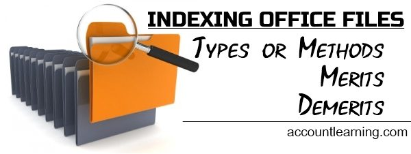 Indexing of Office Files - Types or Methods, Merits, Demerits