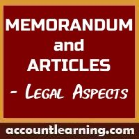 Memorandum and Articles - Legal aspects
