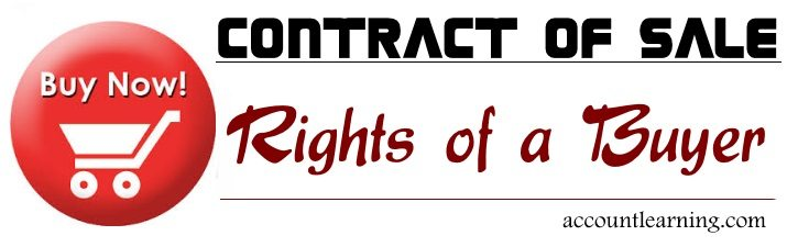 Contract of Sale - Rights of a Buyer