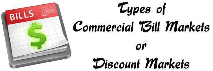 Types of Commercial bill markets or Discount Markets