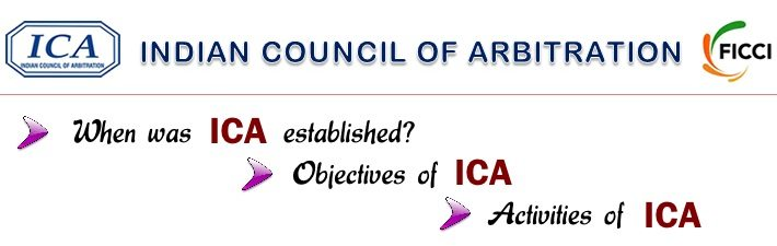 Indian Council of Arbitration - Establishment, Objectives, Activities