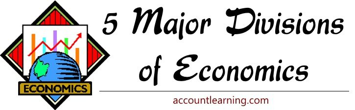5 Major divisions of Economics