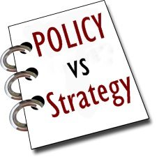 Policy vs Strategy