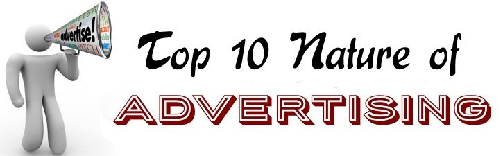 Top 10 Nature of Advertising