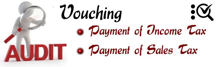 Vouching Payment of Income Tax and Sales tax