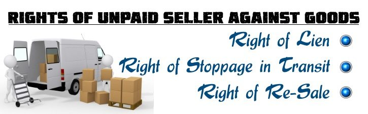 Rights of Unpaid Seller against Goods