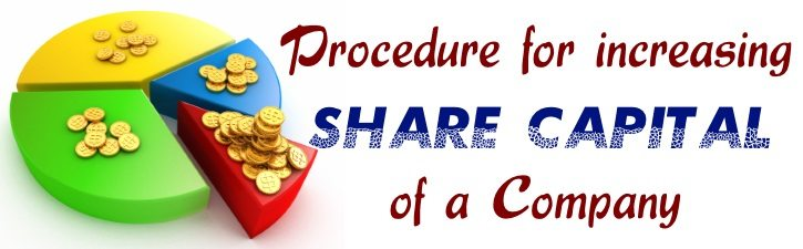 Procedure for increasing Share Capital of a Company