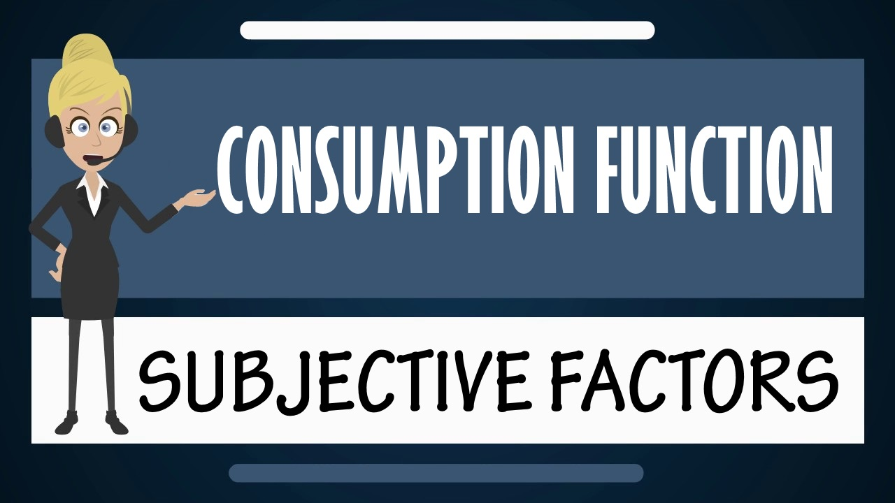 Consumption function - Subjective Factors