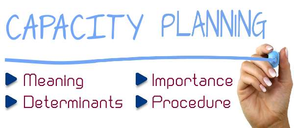 Notes on Capacity Planning - Importance, Procedure, Determinants