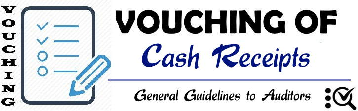 Vouching of Cash Receipts