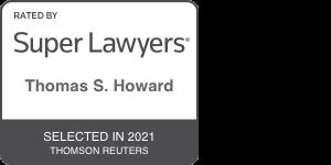 Thomas Howard Super Lawyer 2021 Badget
