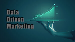 illustration of a hand holding a chart graph to show the importance of a data driven marketing approach