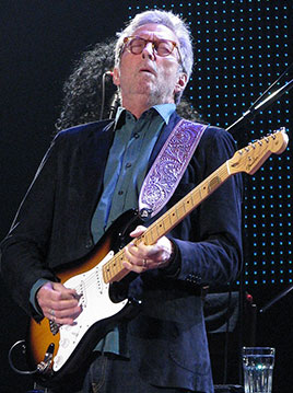 Photo of Eric Clapton at Madison Square Garden, May 1, 2015. Photographer is Steve Proctor.