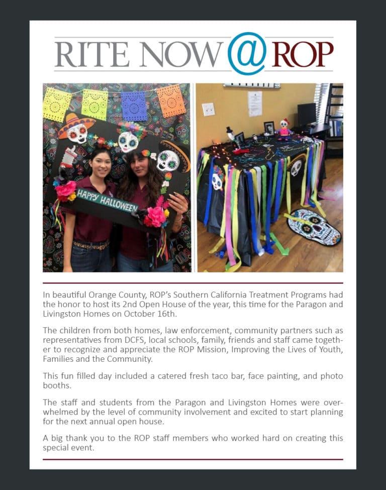 Rite Now - Southern California Treatment Program November 2019