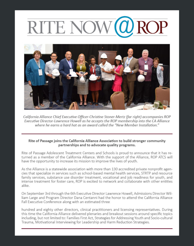 Rite Now - Southern California Treatment Program October 2019