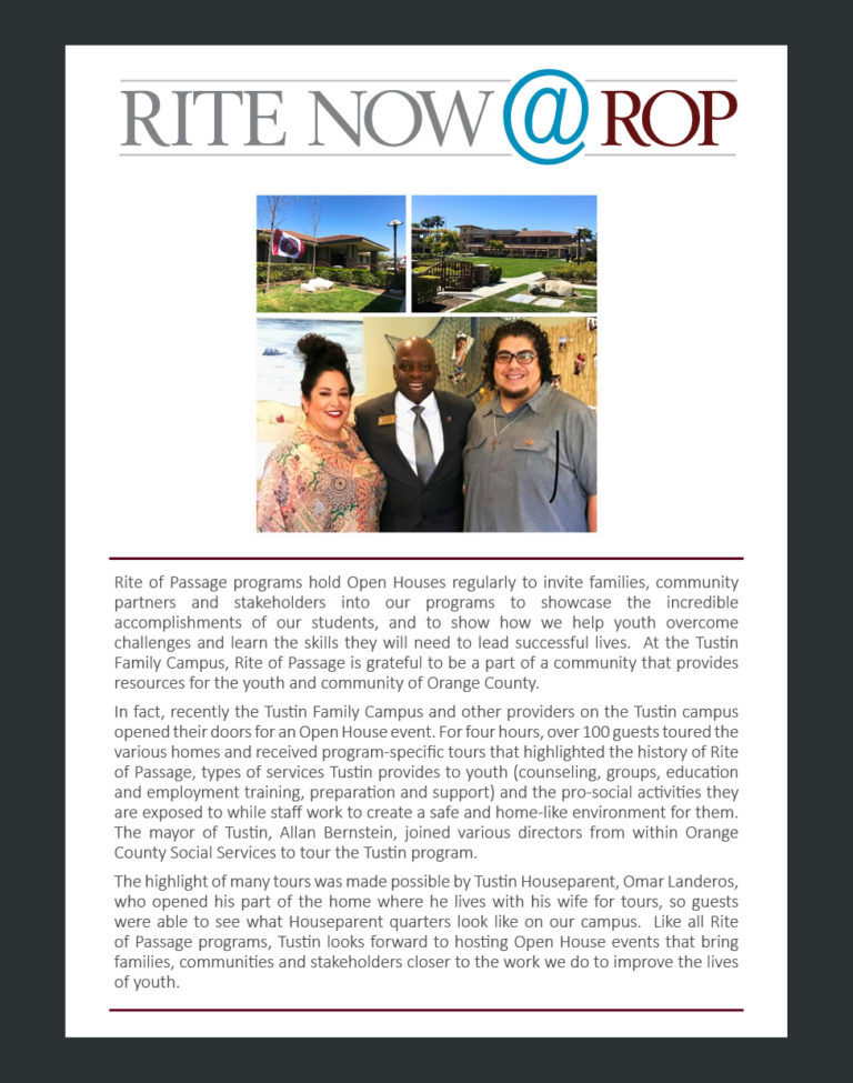 Rite Now - Tustin 2018 Open House