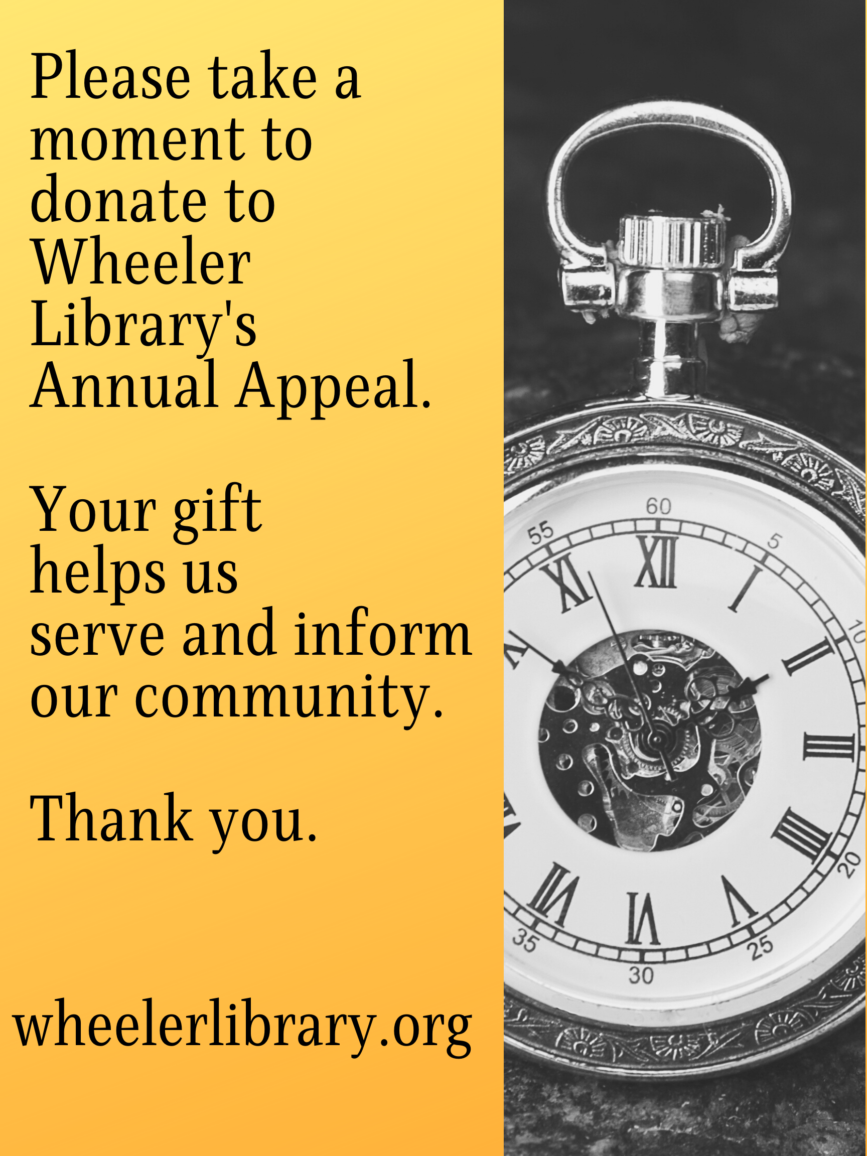 Brown Gold Pocket Watch Clubs Fundraising Poster