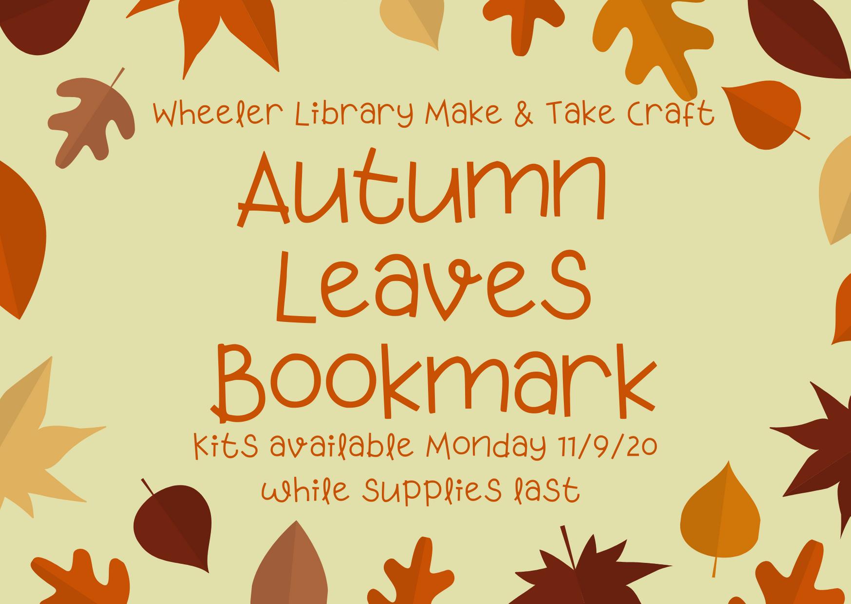 Autumn Leaves Bookmark Craft