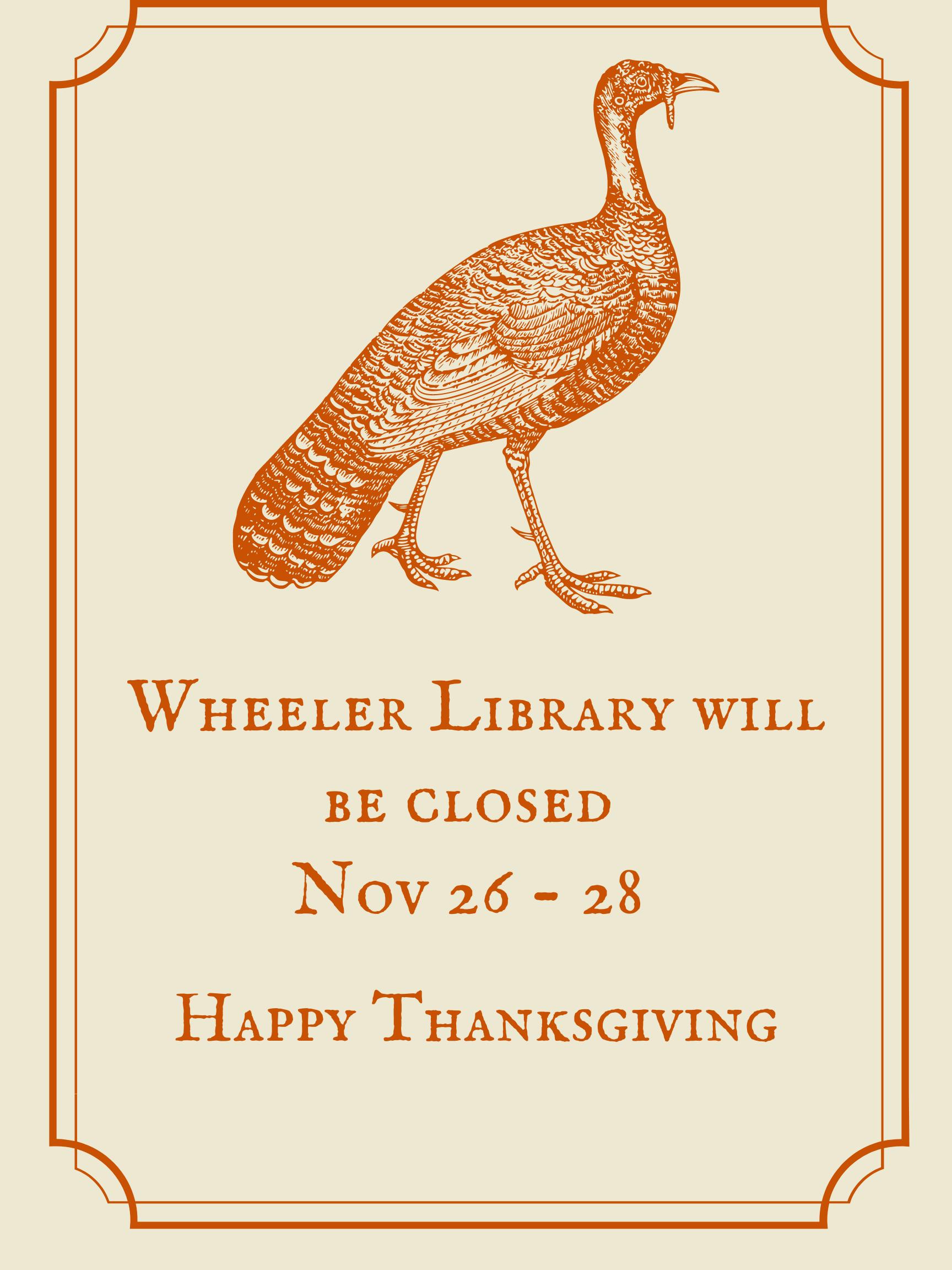 Orange Illustrated Turkey Poster