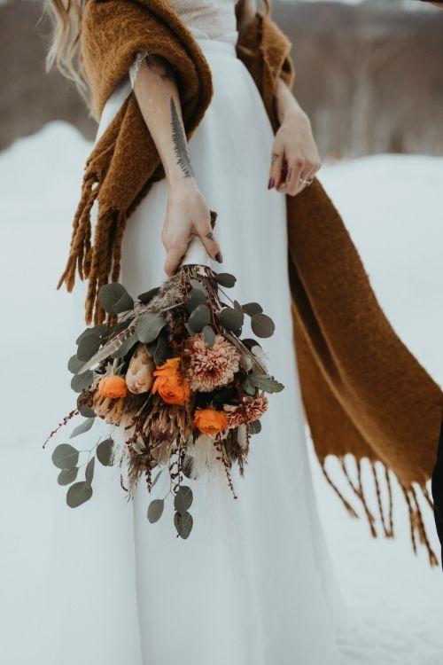 robe de mariée bohème en organza et dentelle