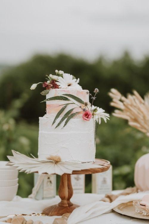gateau de mariage boheme