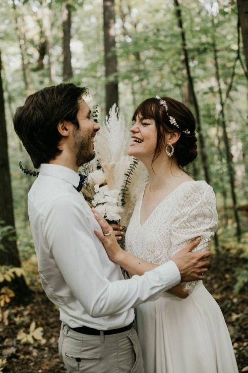 Couple marié heureux