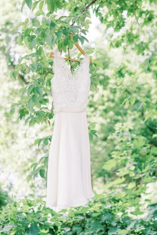 robe courte de mariage