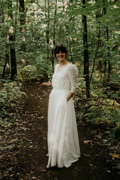 jupe de mariage boheme