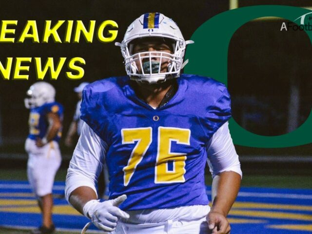 Oregon Lands 4-Star Offensive Tackle Kingsley Suamataia