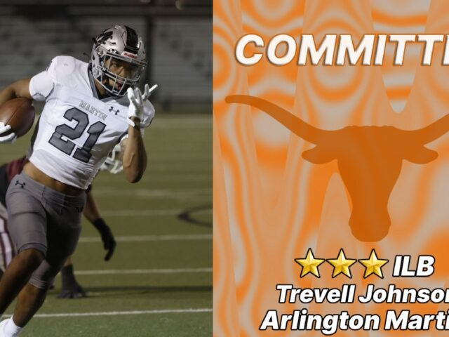 Three-Star ILB Trevell Johnson Commits to the University of Texas