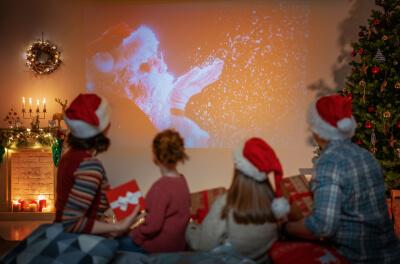 kids in santa hats