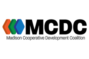 Colored shapes next to the letters MCDC, Madison Cooperative Development Coalition written below