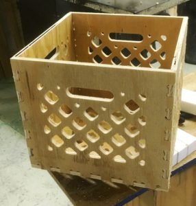 Routered Milk Crate