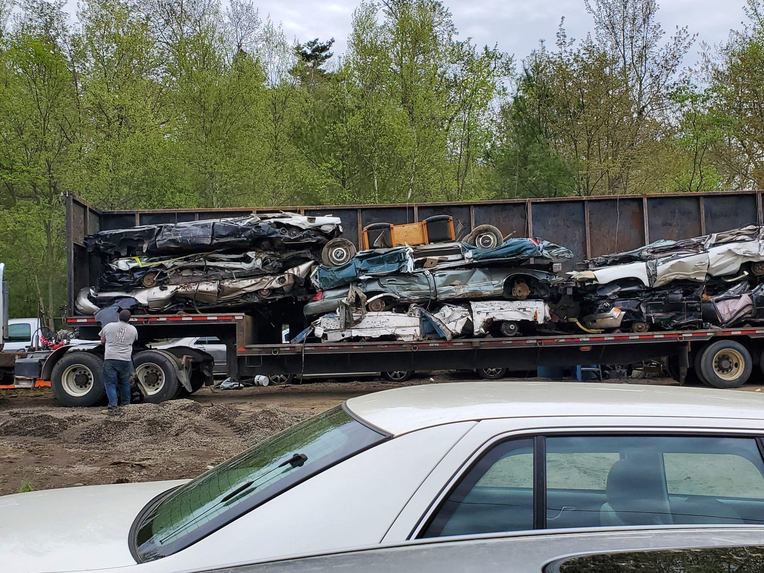 Car scrapyard near Wakefield MA