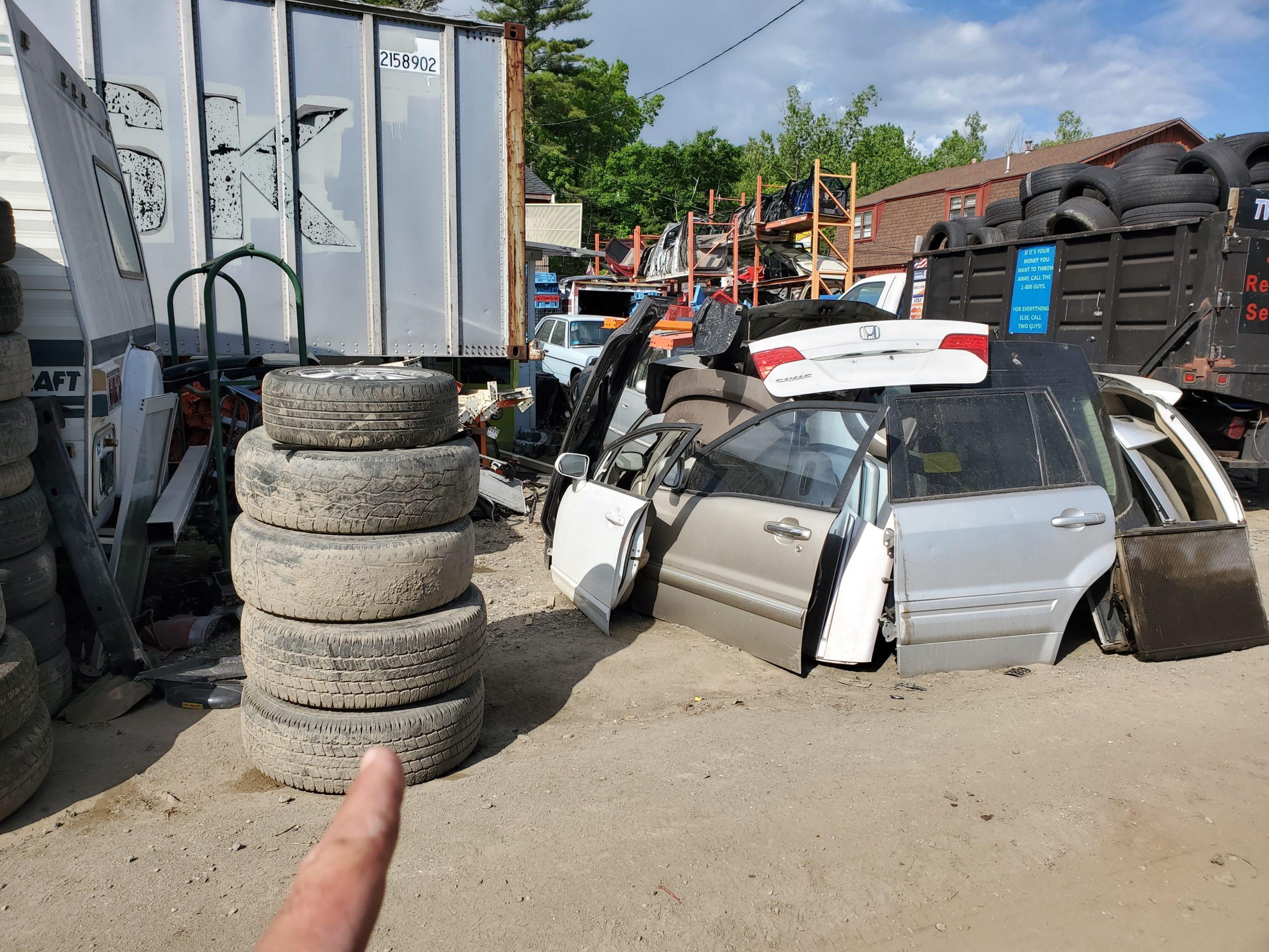 Scrap vehicle near Lynnfield MA