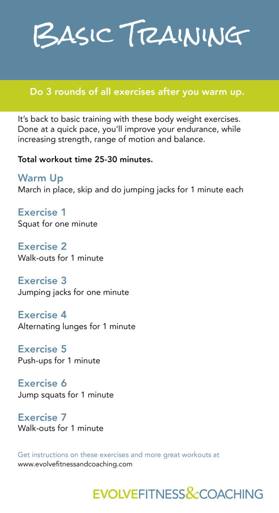 Basic Training Workout